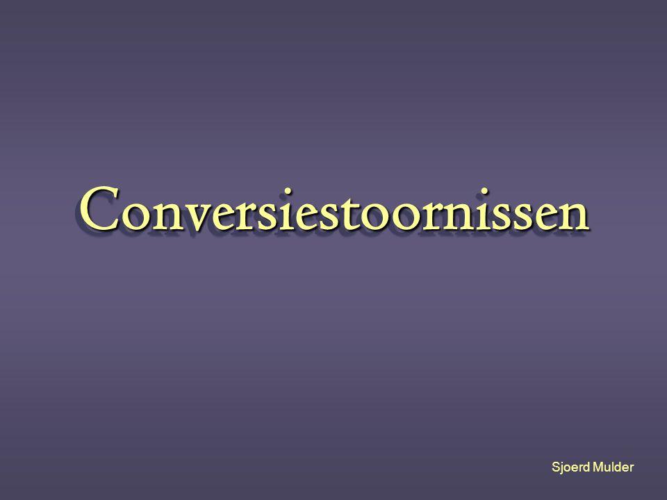 Conversiestoornissen Sjoerd Mulder