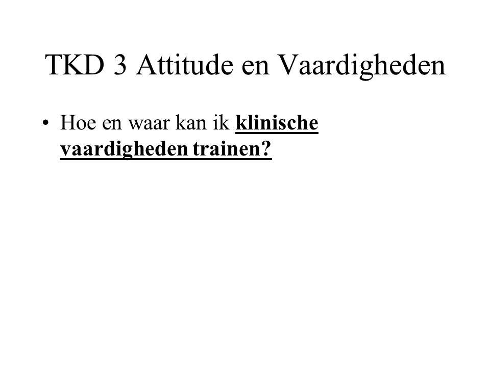 TKD 3 Attitude en Vaardigheden Hoe en waar kan ik klinische vaardigheden trainen?