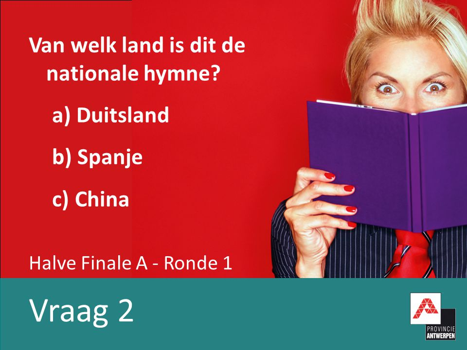 Halve Finale A - Ronde 1 Vraag 3