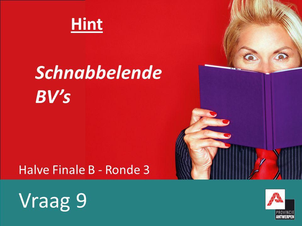 Halve Finale B - Ronde 3 Vraag 9 Hint Schnabbelende BV's