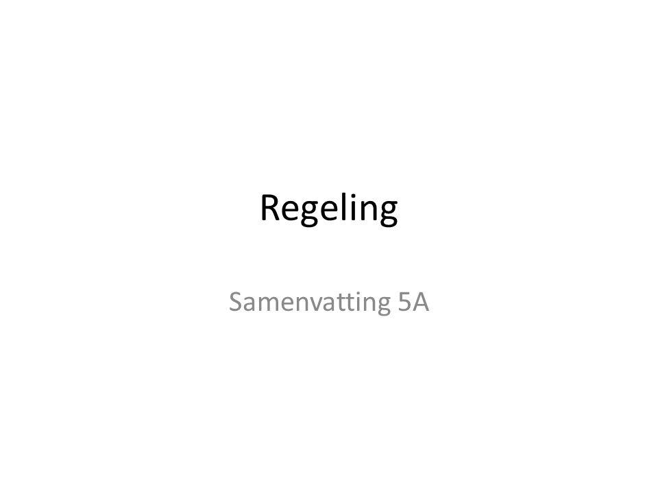Regeling Samenvatting 5A