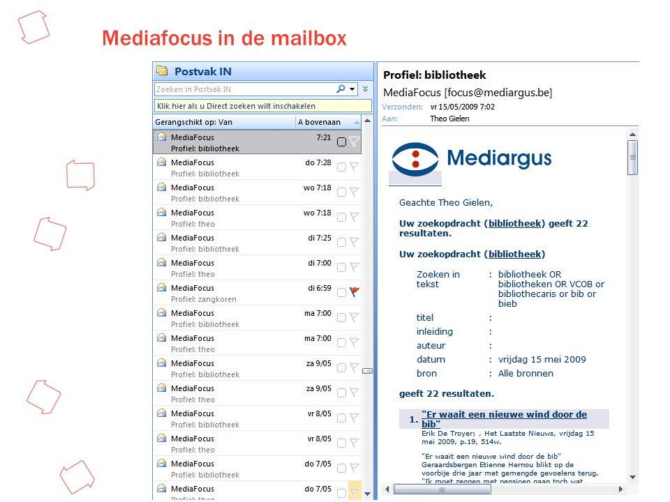 Mediafocus in de mailbox