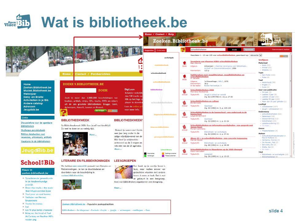 Wat is bibliotheek.be slide 4