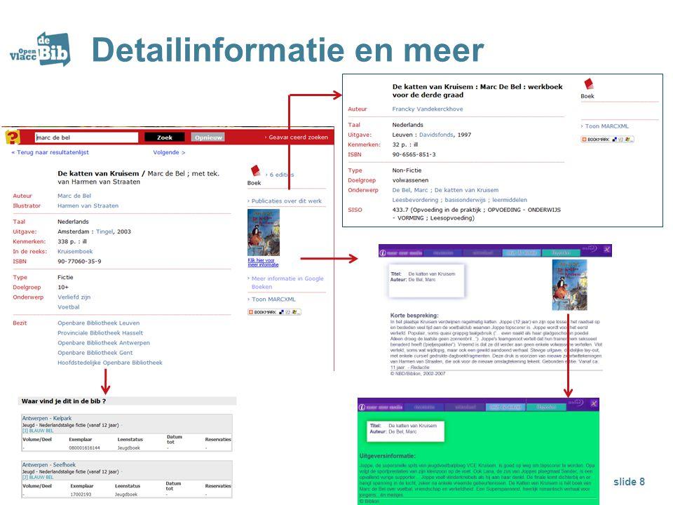 Detailinformatie en meer slide 8