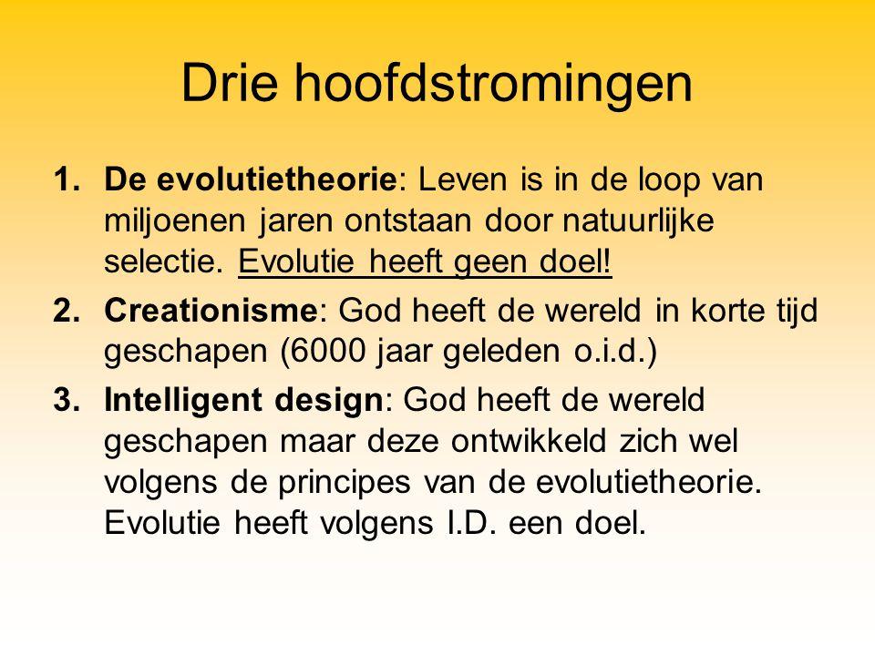 Bewijs Alleen voor de evolutietheorie zijn bewijzen.
