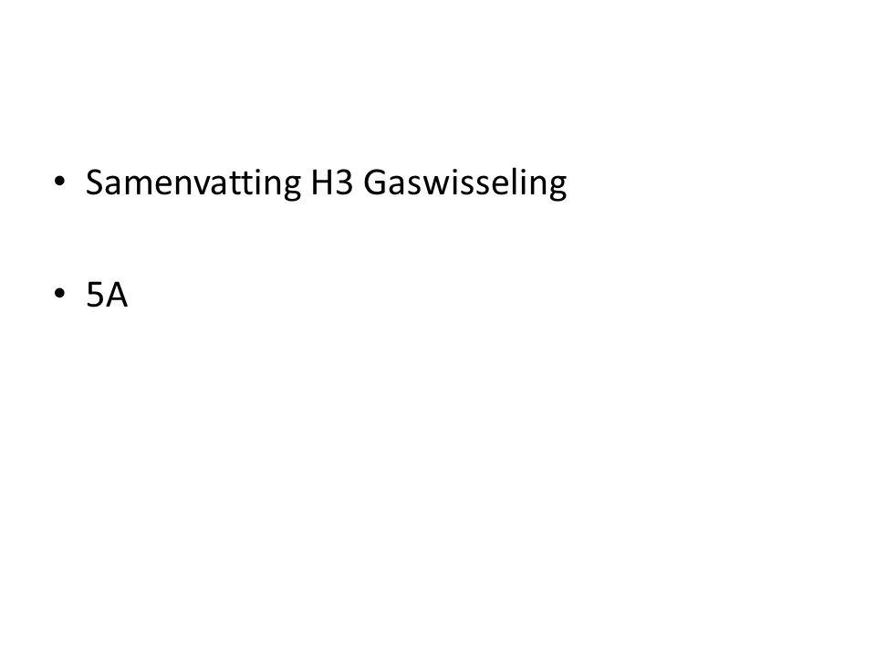 Samenvatting H3 Gaswisseling 5A