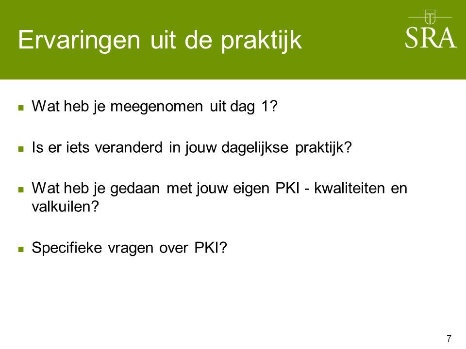 De PKI-accountant Aan de slag in 4 groepen van 5 deelnemers Bespreek met elkaar de uitkomsten/antwoorden.