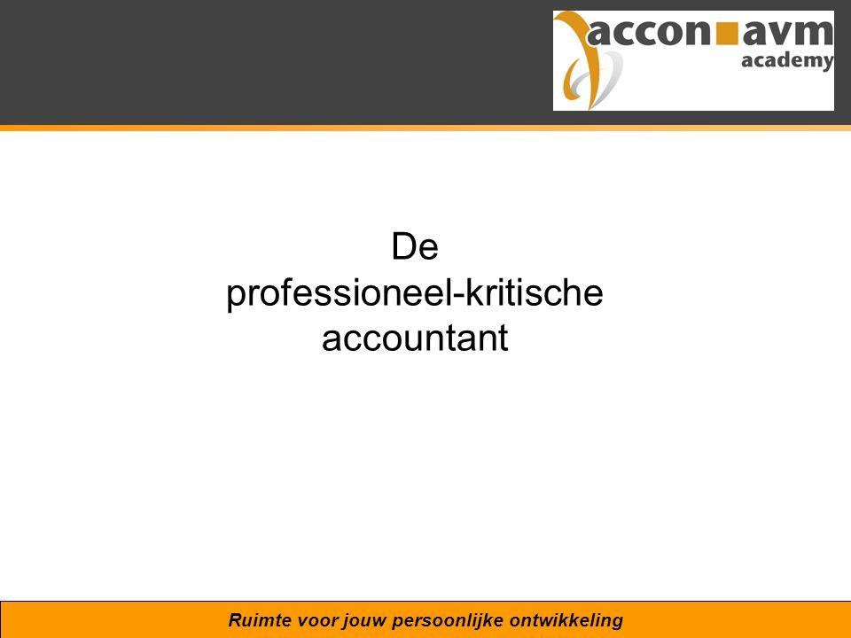 Ruimte voor jouw persoonlijke ontwikkeling De professioneel-kritische accountant