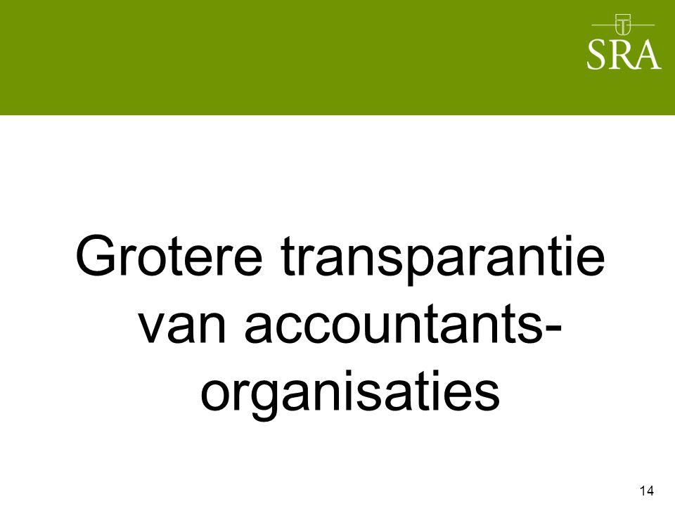 Grotere transparantie van accountants- organisaties 14