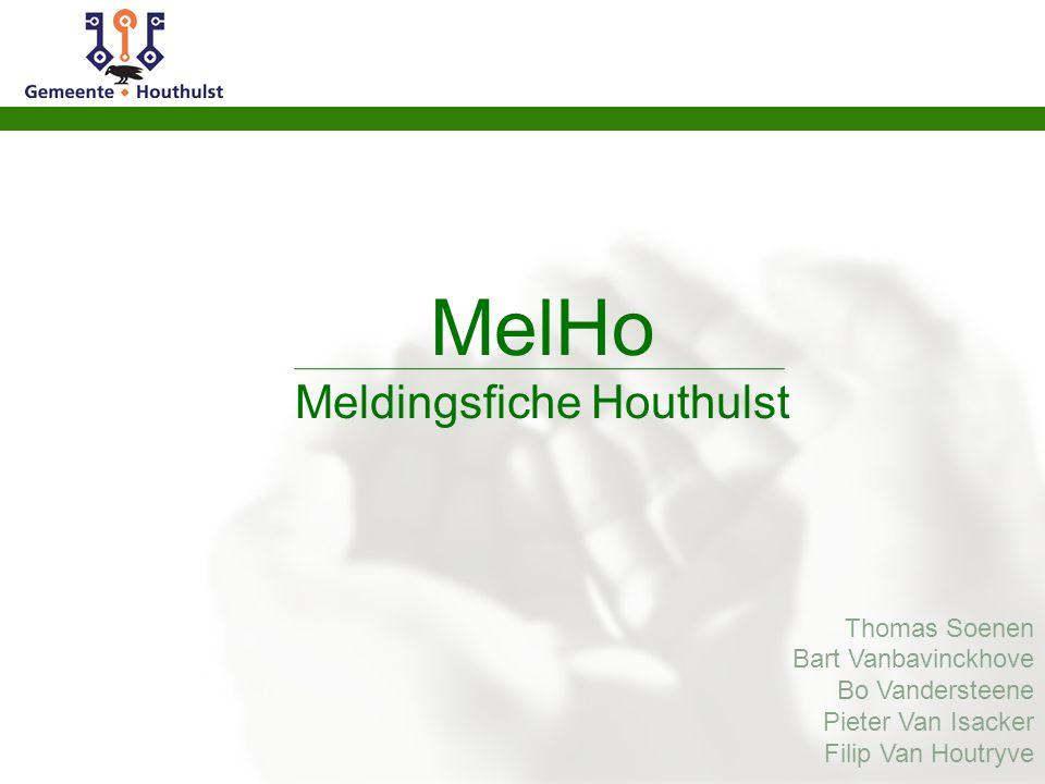  Agenda  Intro  Mission  Equipe  Public visé  Qualités  Modules à ajouter  Le prix  Demo  Conclusion  Questions MelHo Meldingsfiche Houthul