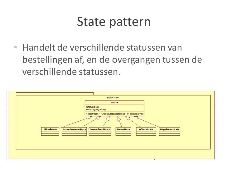 Data laag Klasse om de connectie naar de database te regelen, en verschillende klassen om de query s uit te voeren.