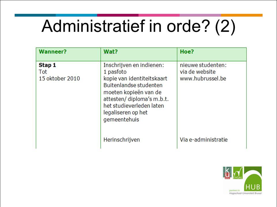 Administratief in orde? (2)