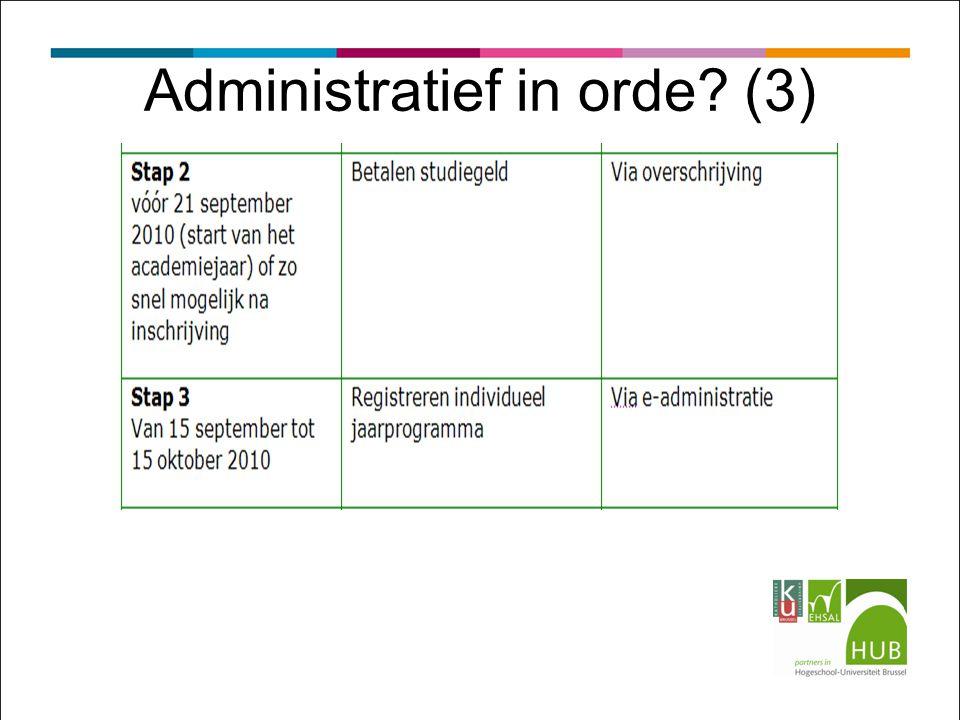 Administratief in orde? (3)