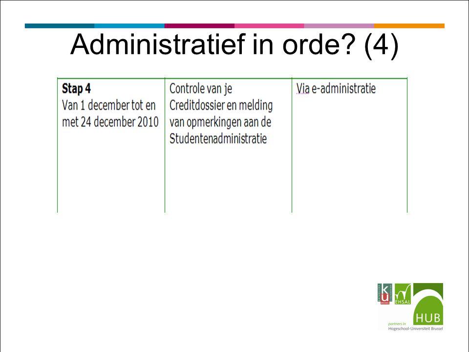 Administratief in orde? (4)