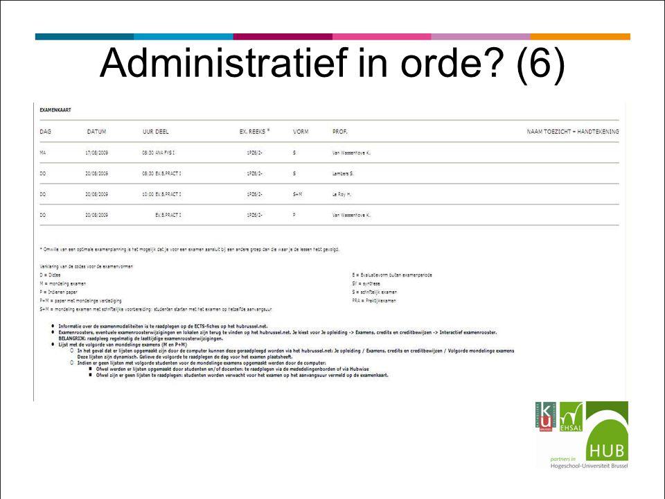 Administratief in orde? (6)
