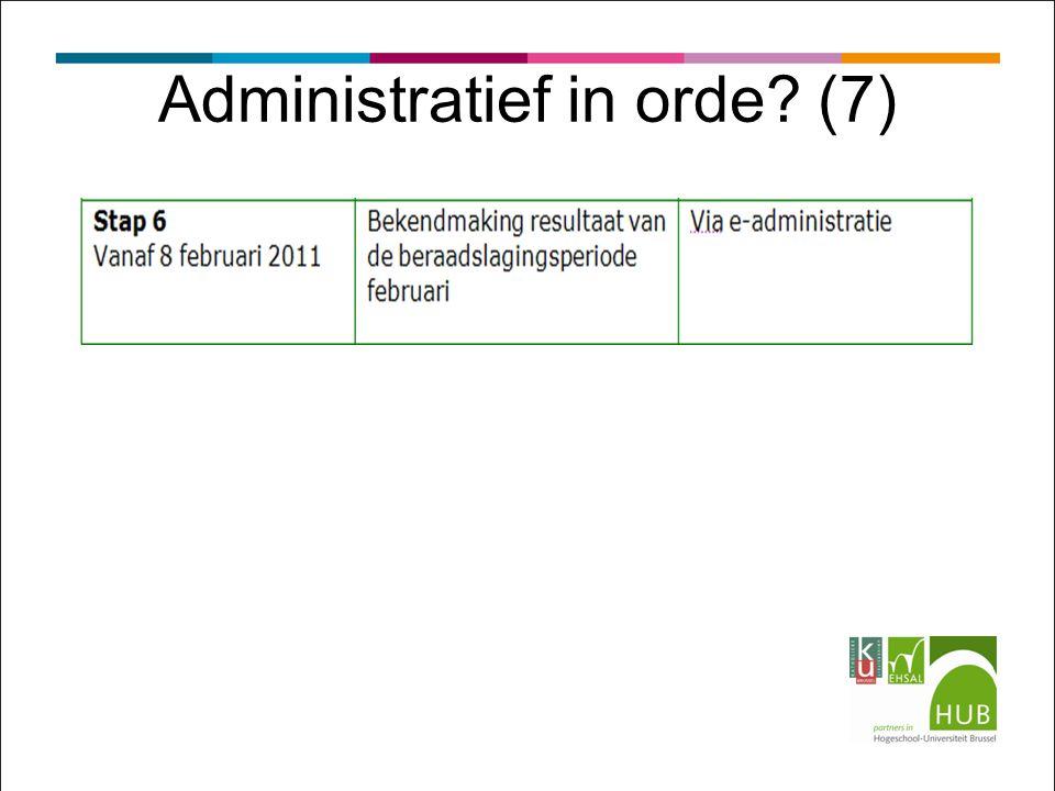 Administratief in orde? (7)