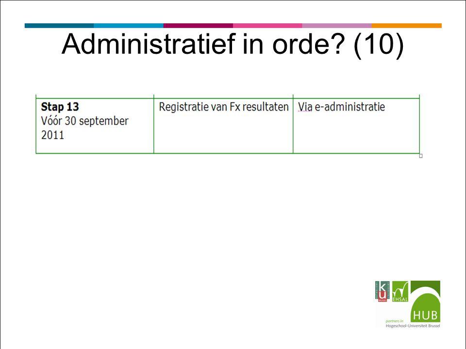 Administratief in orde? (10)