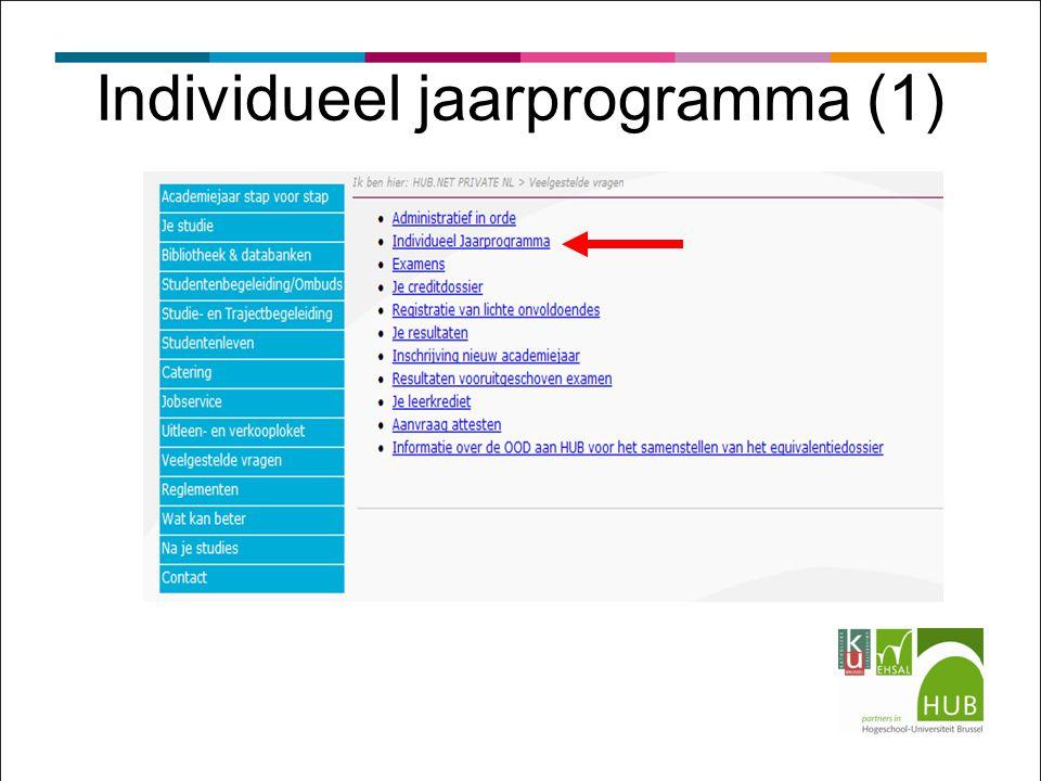 Individueel jaarprogramma (1)