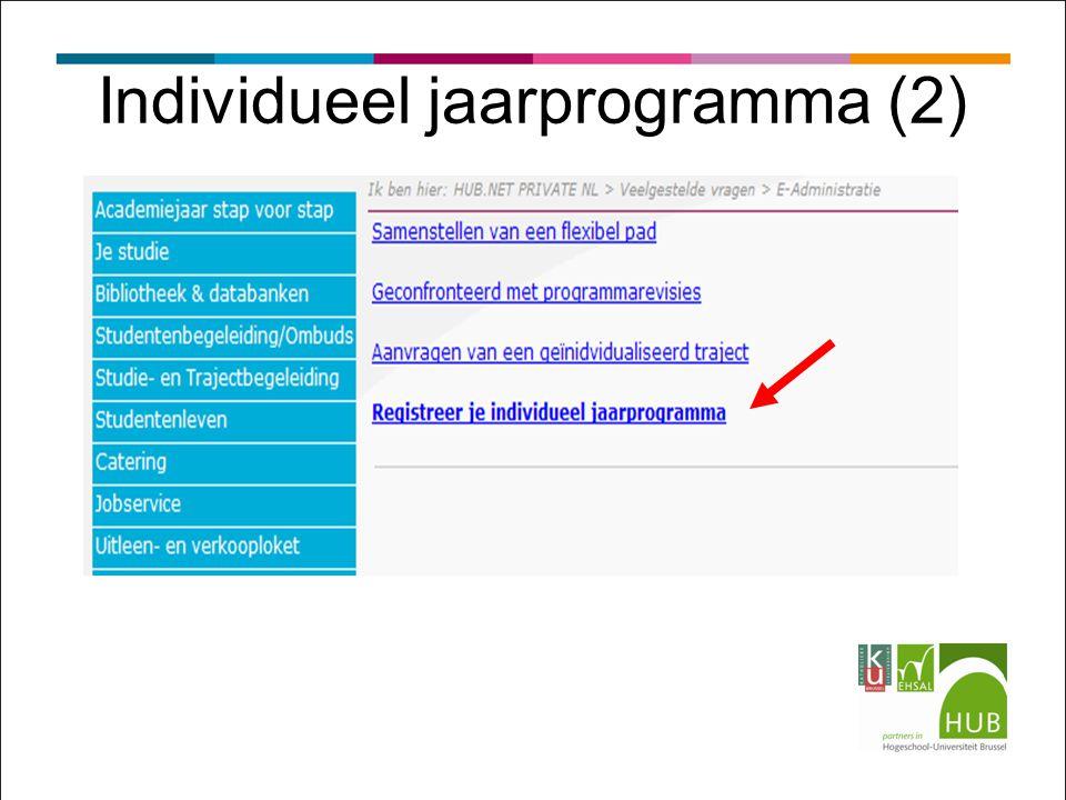 Individueel jaarprogramma (2)