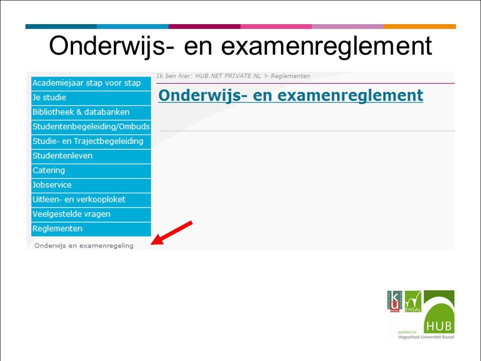 Onderwijs- en examenreglement