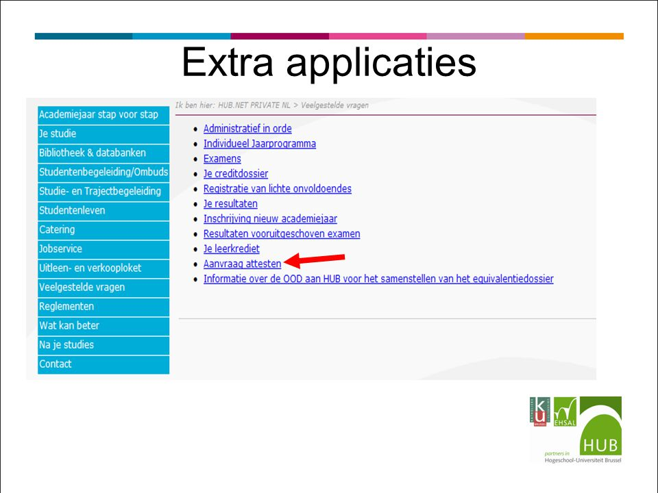 Extra applicaties