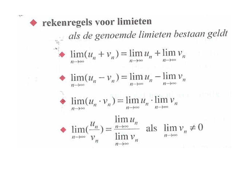 Limieten in de huidige boeken Samengevat VWO wiskunde B blz. 124