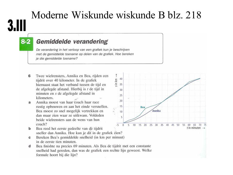 Moderne Wiskunde wiskunde B blz. 218
