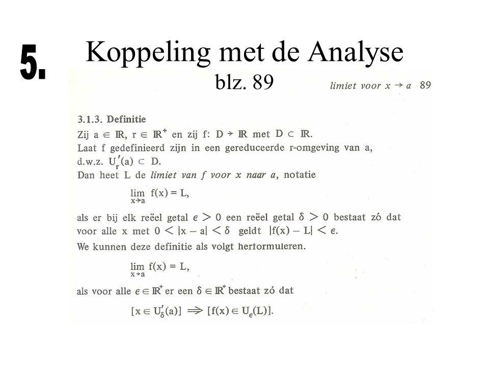 Koppeling met de Analyse blz. 89