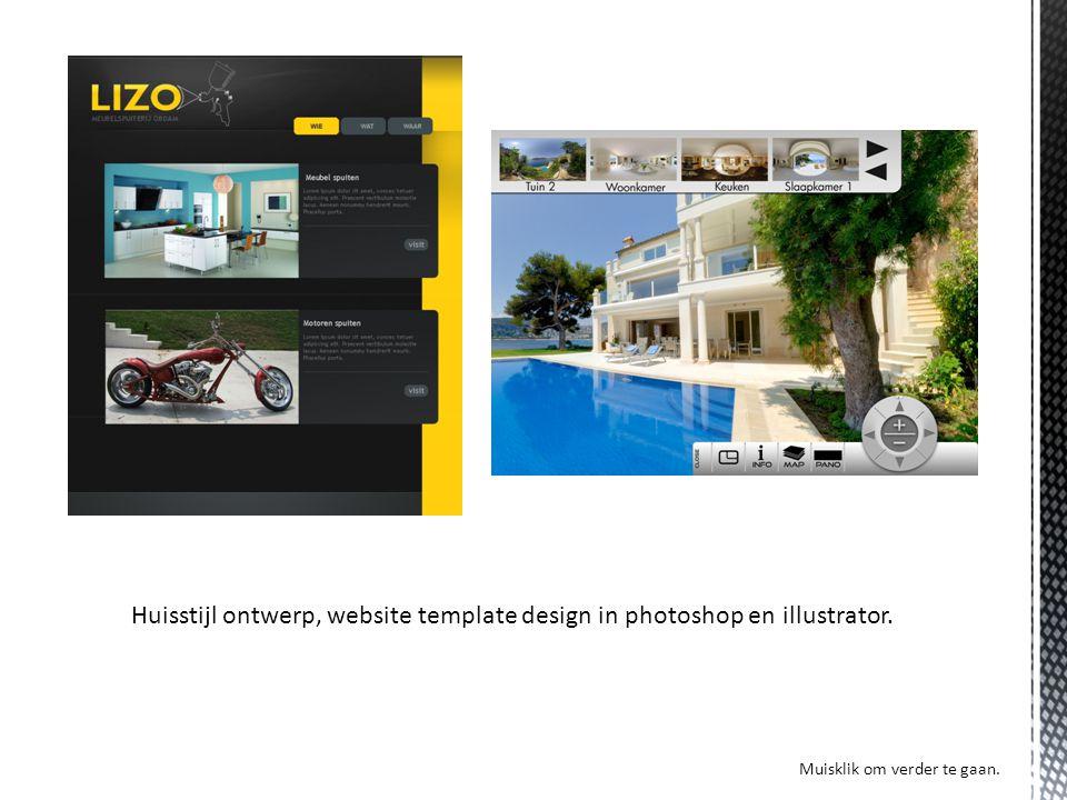 Huisstijl ontwerp, website template design in photoshop en illustrator. Muisklik om verder te gaan.