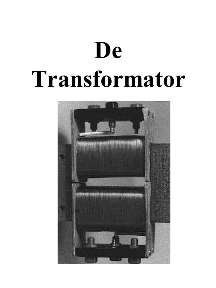Zet een kleine electrische stroom met hoge spanning om in een grote electrische stroom met lage spanning, of andersom.