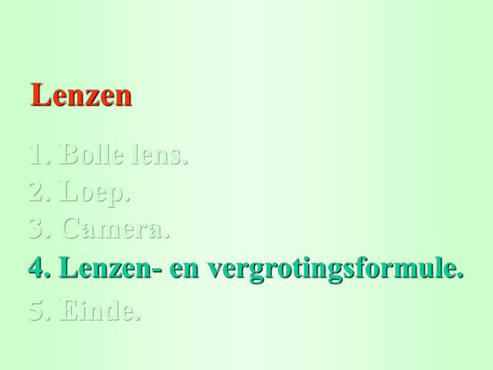 Lenzen Lenzen 4. Lenzen- en vergrotingsformule. 4. Lenzen- en vergrotingsformule.