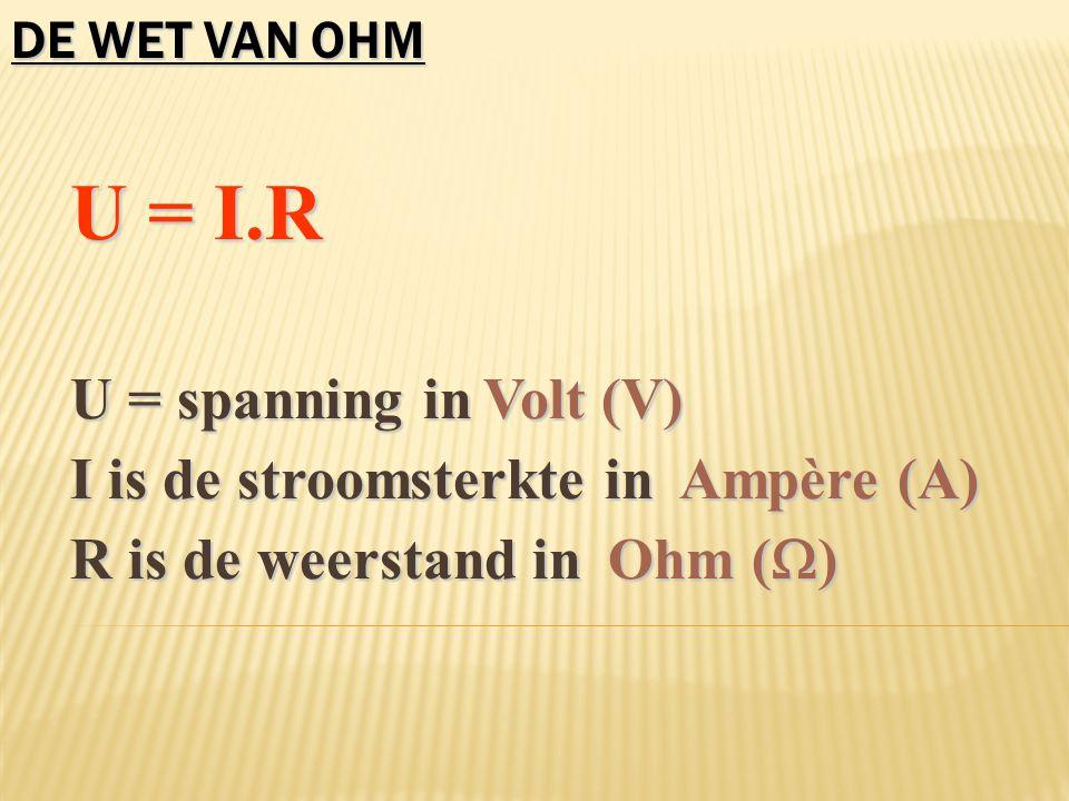 1.De stroom... Hoofdstroom I bron = I 1 = I 2. Hoofdstroom I bron = I 1 = I 2.