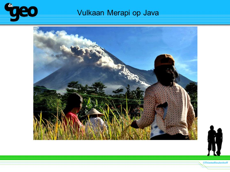 Vulkaan Merapi op Java