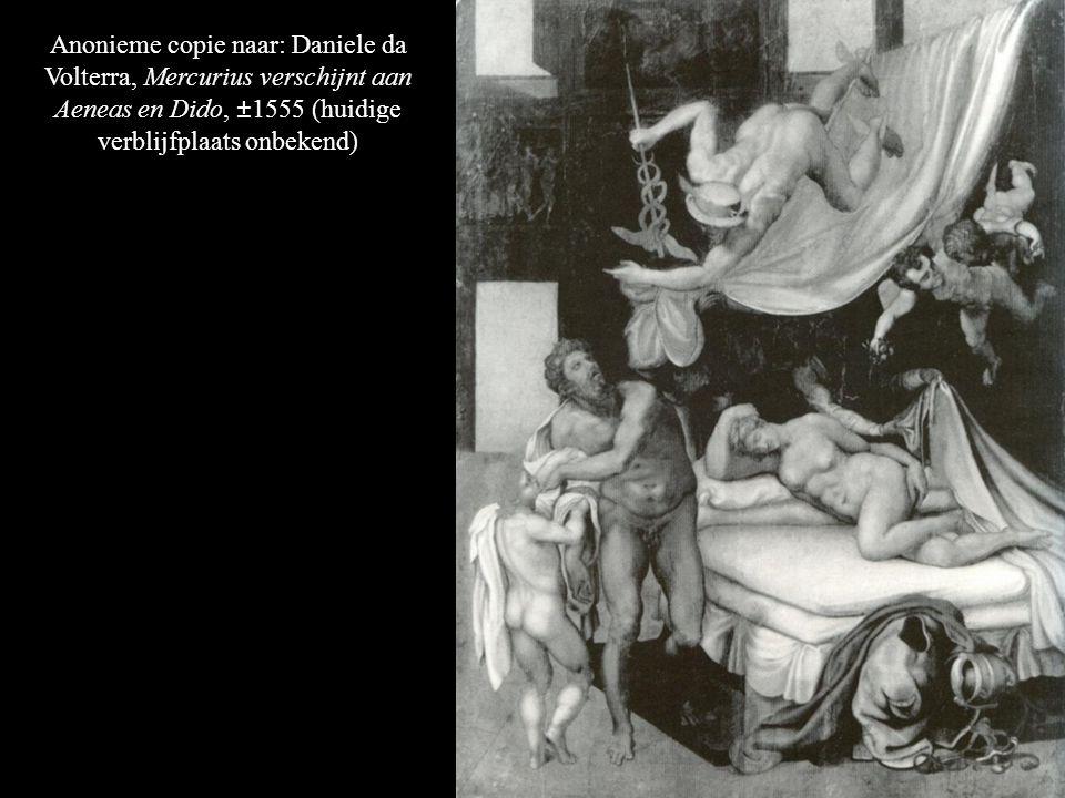 Anonieme copie naar: Daniele da Volterra, Mercurius verschijnt aan Aeneas en Dido, ±1555 (huidige verblijfplaats onbekend)