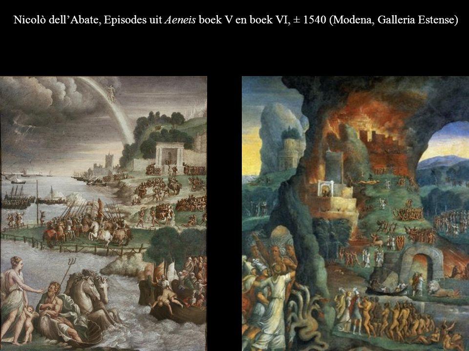 Nicolò dell'Abate, Episodes uit Aeneis boek V en boek VI, ± 1540 (Modena, Galleria Estense)