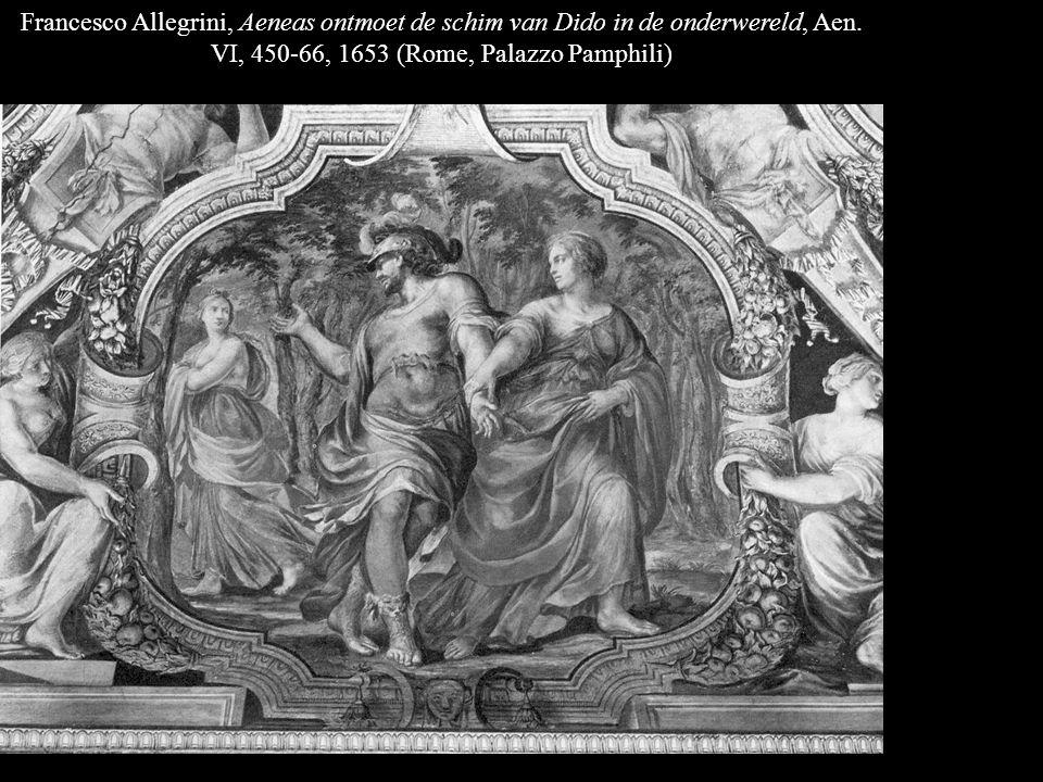Francesco Allegrini, Aeneas ontmoet de schim van Dido in de onderwereld, Aen.