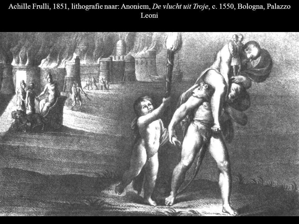 Achille Frulli, 1851, lithografie naar: Anoniem, De vlucht uit Troje, c.