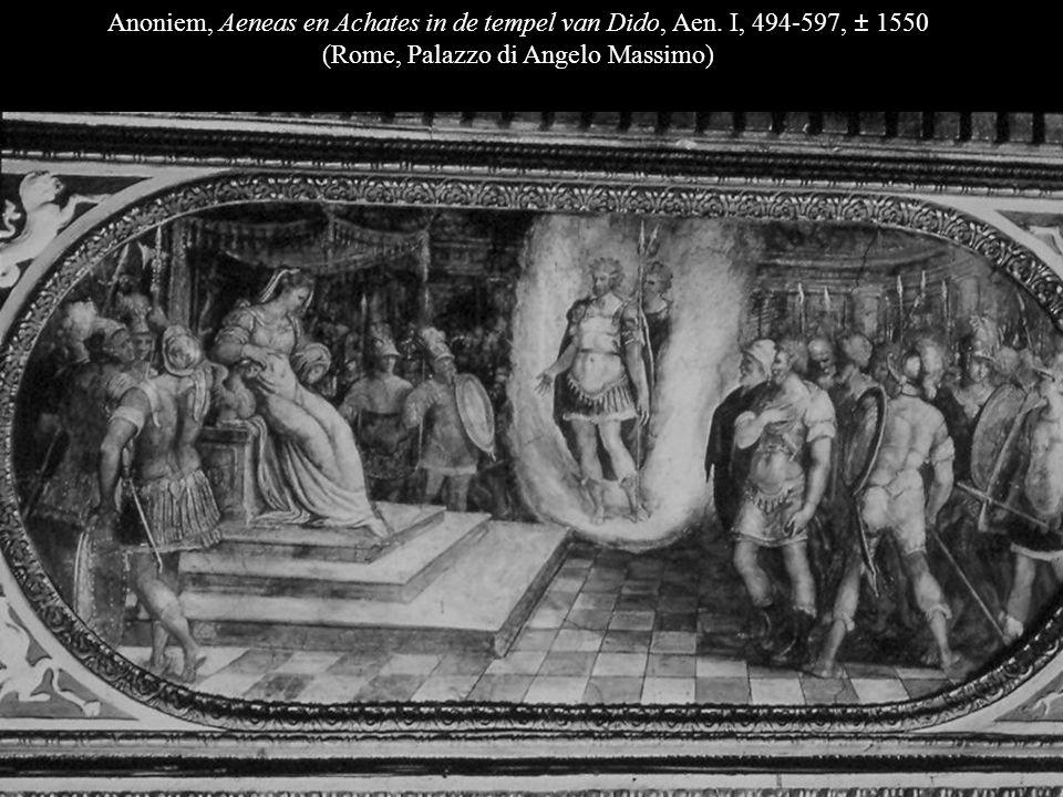 Anoniem, Aeneas en Dido gaan op jacht, Aen. IV, 129-50, ±1550 (Rome, Palazzo di Angelo Massimo)