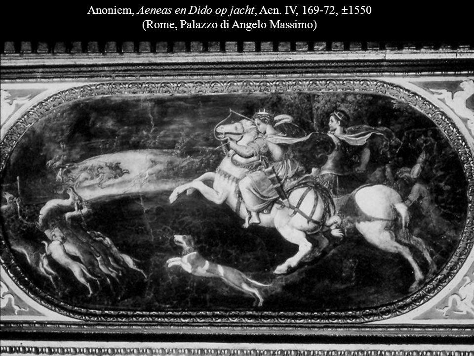 Rafaël, De brand in de Borgo (detail), 1514 (Rome, Vaticaans paleis: Stanza dell'Incendio) Giovanni Jacopo Caraglio, Aeneas ontvlucht het brandende Troje, ca.