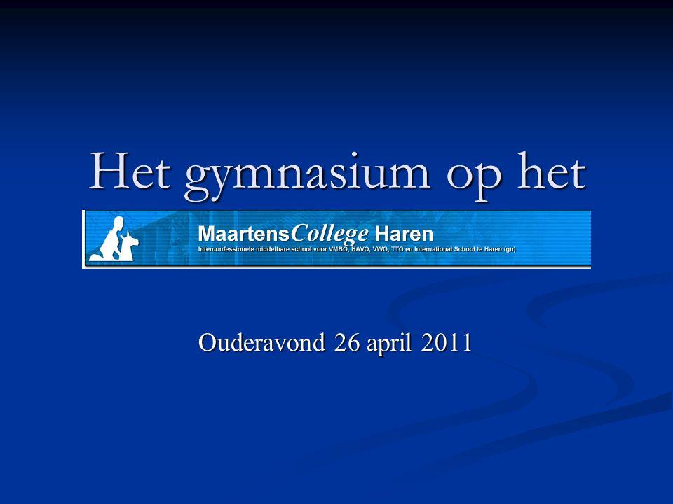 Het gymnasium op het Ouderavond 26 april 2011