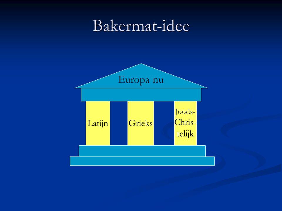 Bakermat-idee LatijnGrieks Joods- Chris- telijk Europa nu