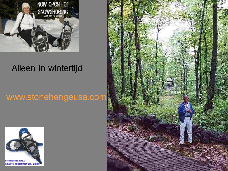 Alleen in wintertijd www.stonehengeusa.com