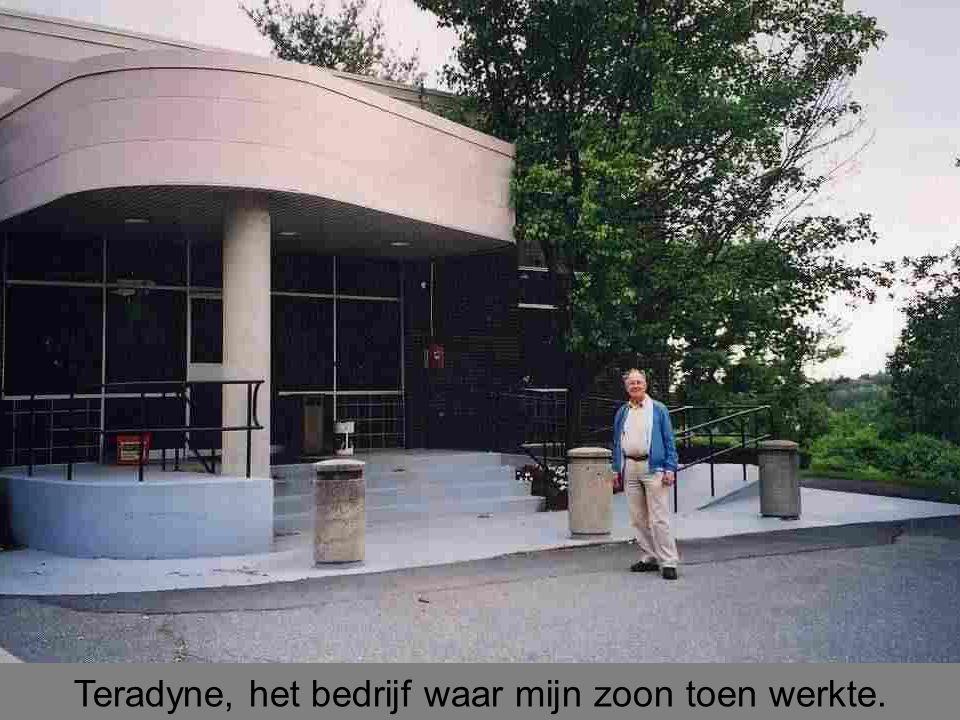 Teradyne, het bedrijf waar mijn zoon toen werkte.