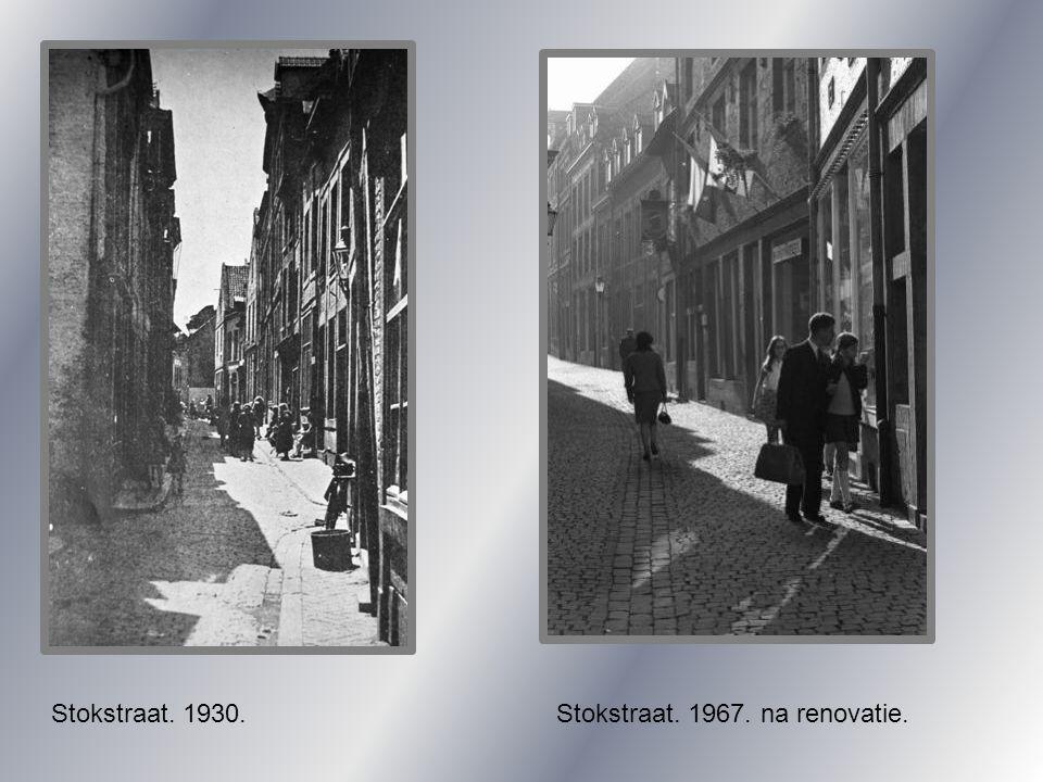 Stokstraat. 1967. na renovatie.