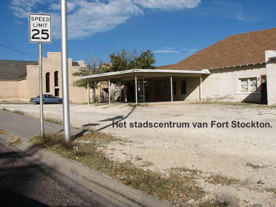 Het stadscentrum van Fort Stockton.