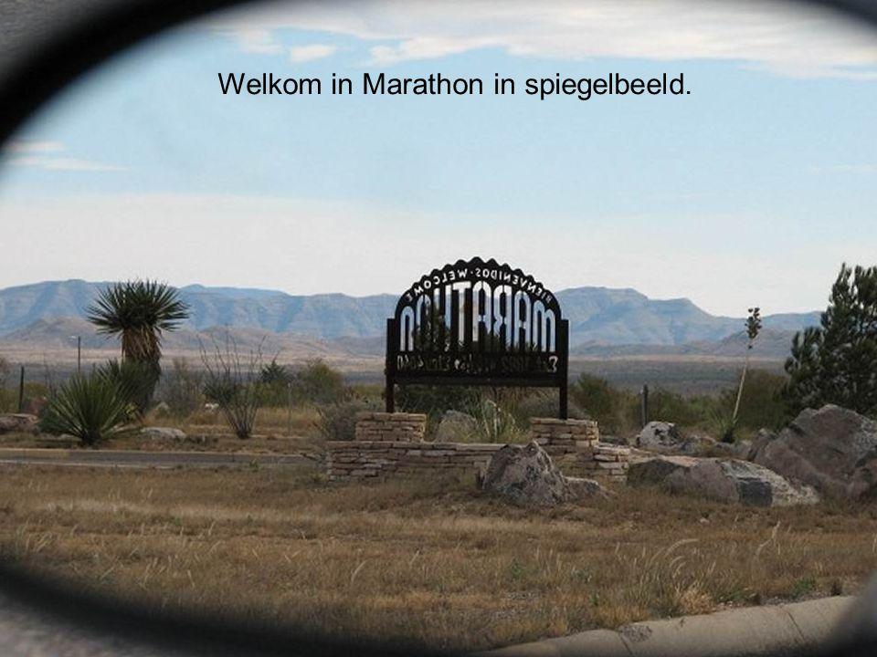 Welkom in Marathon in spiegelbeeld.