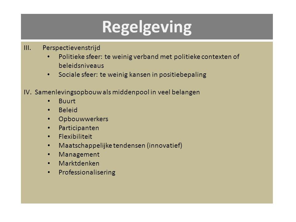 Regelgeving III.