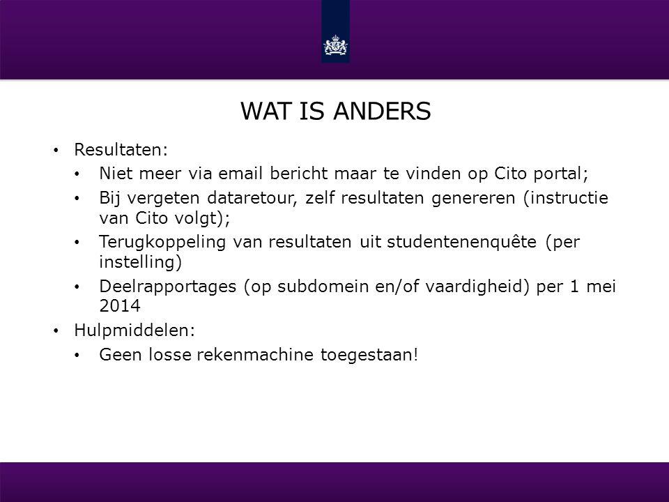 WAT IS ANDERS Kandidaten met beperking: Doven-variant distributie via Portal (voor P2 en P4), bestellen niet nodig; Blinden-variant (mogelijk in P3 en P4) opgave voor 15 oktober via coe-beperking@cve.nl;coe-beperking@cve.nl dyslexie: geen aparte enquêtes meer.