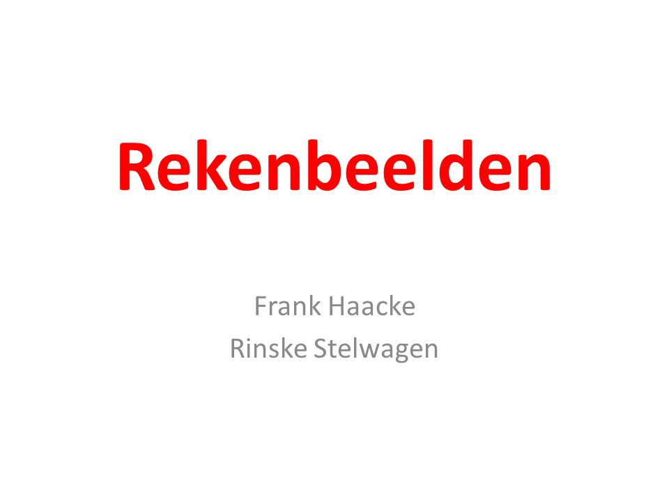 Rekenbeelden Frank Haacke Rinske Stelwagen