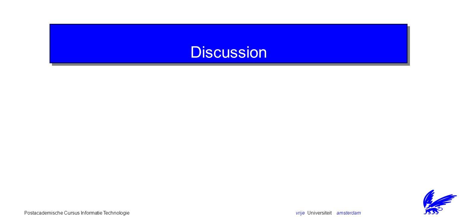 vrije Universiteit amsterdamPostacademische Cursus Informatie Technologie Discussion